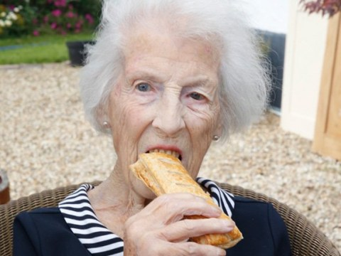 Great-grandma, 100, who thanks sausage rolls for her long life has a Greggs-themed birthday party