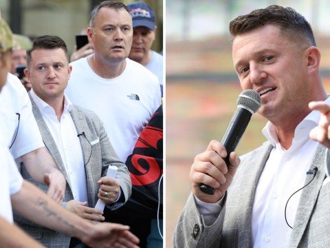 Tommy Robinson arrives at court for contempt retrial