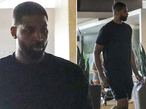 Tristan Thompson spotted looking glum after visiting ex Khloe Kardashian
