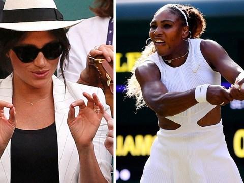 Meghan Markle cheers on Serena Williams at Wimbledon