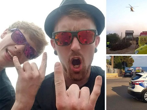First pictures of two Brits killed while taking photo on 40ft cliff in Spain