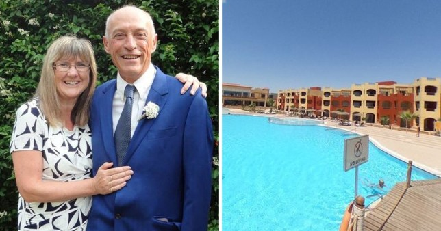 Alison Sonnex and Clive Eversfield from Kent, fell violently ill after their last meal at the Royal Tulip beach resort in Marsa Alam.