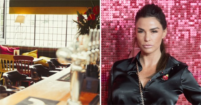 Katie Price and bar imagery