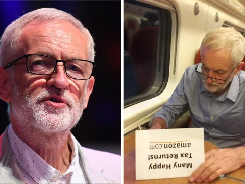 Jeremy Corbyn wishes Amazon 'many happy tax returns' on its 25th birthday