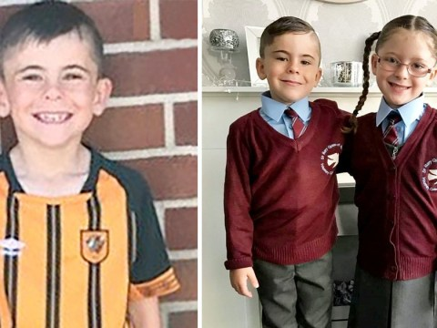 Little girl's heartache after twin brother is killed by grandad