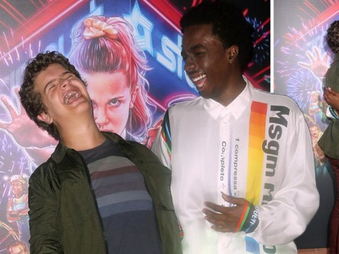 Stranger Things stars Gaten Matarazzo and Caleb McLaughlin amp up the bromance as season 3 drops