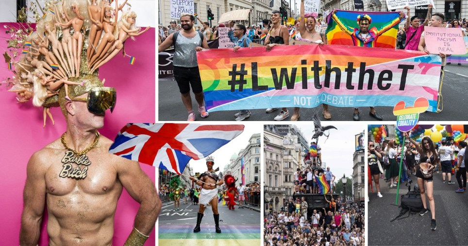 Pride 2019 brings London to standstill with bursts of colour, music and dance