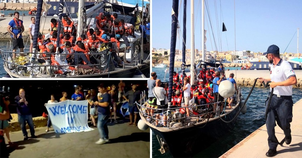 A migrant rescue vessel defied Italy's Matteo Salvani and docked at Lampedusa