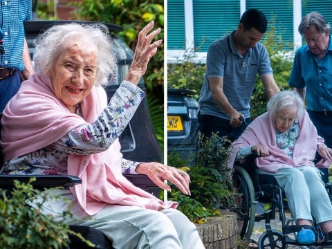Dame Vera Lynn is all smiles as Forces' sweetheart makes rare appearance aged 102