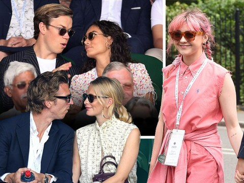 Game Of Thrones star Maisie Williams is pretty in pink as she takes boyfriend on day out to Wimbledon