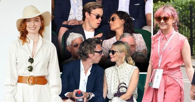 Celebrities at Wimbledon, Eleanor Tomlinson, Will Poulter, Poppy Delevingne, Maisie Williams