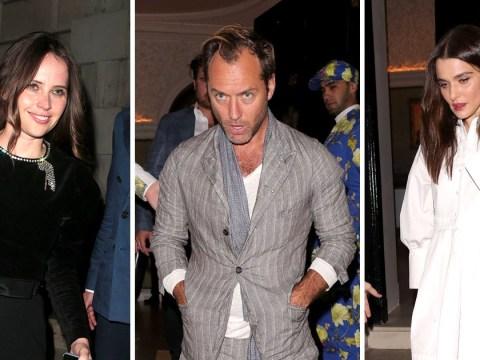 Jude Law, Rachel Weisz and Felicity Jones go partying on a school night