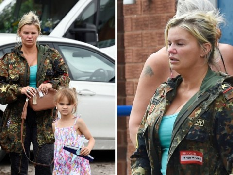 Kerry Katona steps out with daughter Dylan-Jorge for first time since George Kay's death