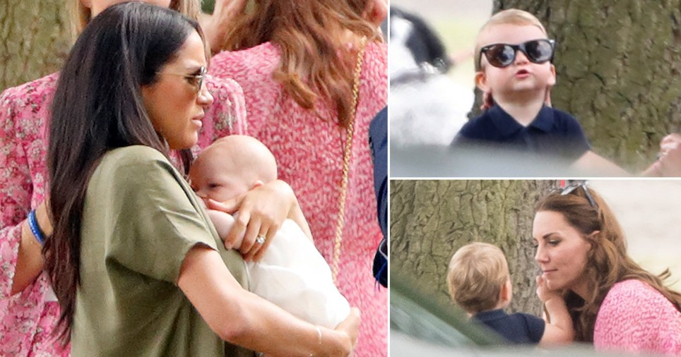 Prince Louis steals the show as he nicks his mum's sunglasses. Meghan is seen cradling Archie