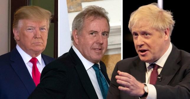 Donald Trump, Sir Kim Darroch, Boris Johnson