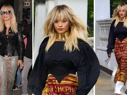 Rita Ora sizzles in two daring outfits as she performs at Amazon Prime bash
