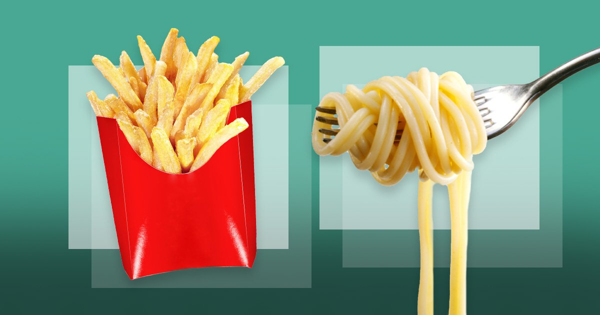 A design of chips and pasta