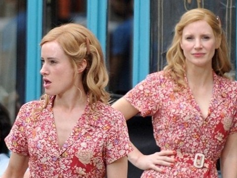 Jessica Chastain is seeing double on set of all-female spy thriller 355
