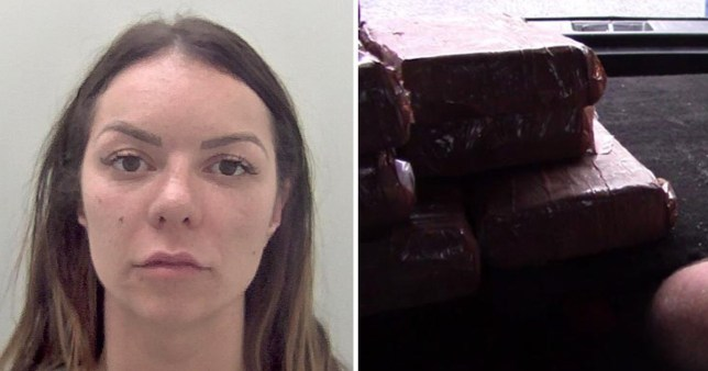 Pregnant Stephanie Nelson, 30, pictured, was caught with £1.5 million worth of cocaine (Picture: National Crime Agency)