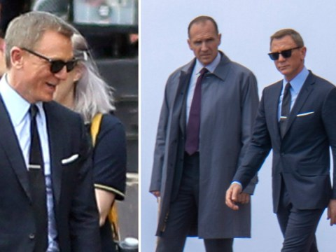 Daniel Craig gets down to James Bond filming as he shakes off ankle injury like a pro