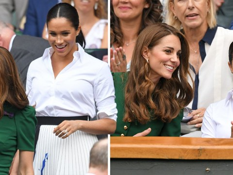 Meghan and Kate watch Serena Williams get thrashed at Wimbledon final
