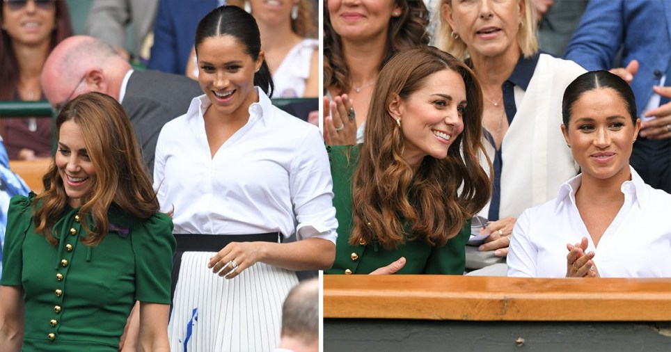 Meghan and Kate sit together in Wimbledon Royal Box