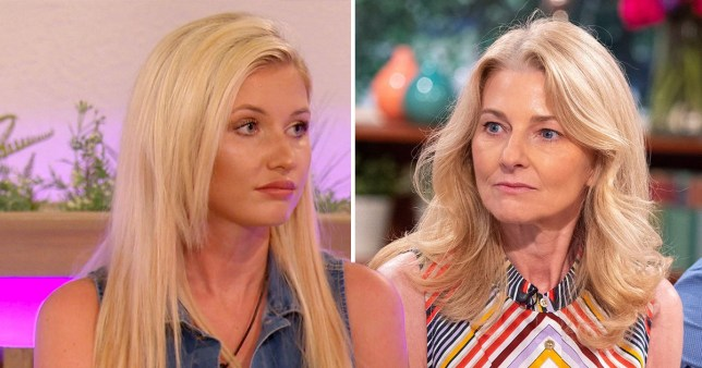 Love Island's Amy Hart and Curtis Pritchard's mum