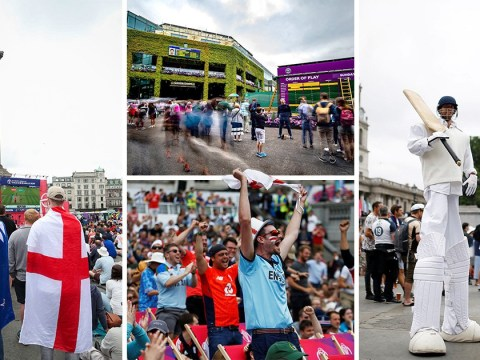 Dry Super Sunday for fans watching Wimbledon and Cricket World Cup