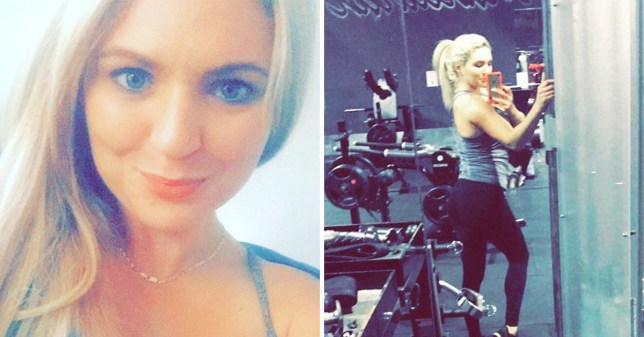 Two pictures of Meegan Hefford, 25, who died due to a high-protein diet and a rare disorder which meant her body couldn't digest protein properly