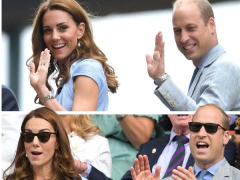 Kate and William all smiles at Wimbledon as Roger Federer faces Novak Djokovic