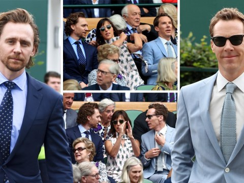Avengers stars Tom Hiddleston and Benedict Cumberbatch turn up to Wimbledon in force