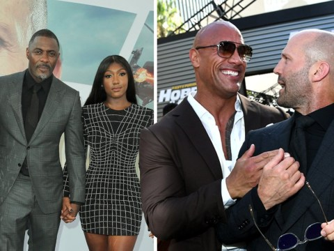 Jason Statham and Dwayne Johnson show off bromance as they lead Hobbs & Shaw premiere