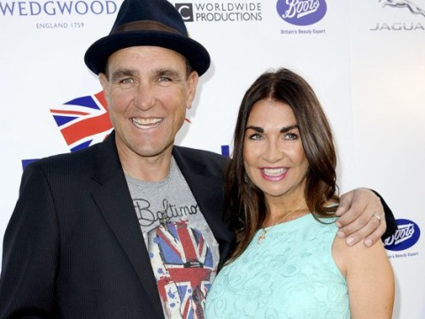 Vinnie Jones returns to work on Celebrity X Factor following the tragic death of his wife Tanya