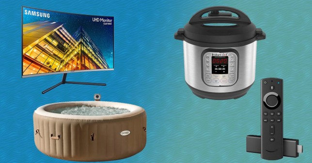 Pictures of various Amazon Prime Day deals