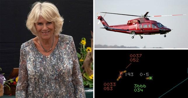 Camilla was flying back from Sandringham Flower Show