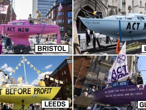 Cities grind to a halt as Extinction Rebellion block roads across UK