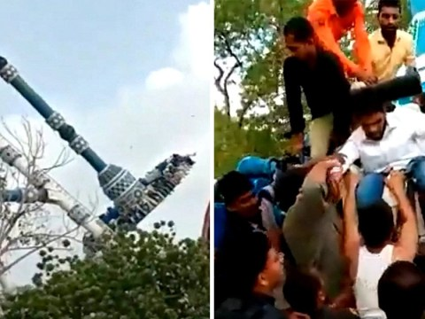 Shocking moment theme park ride snaps, killing two people
