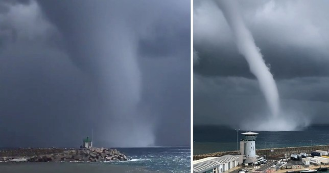 waterspout in Corsica