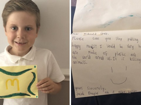 Boy begs McDonald's to cut back on plastic – and they respond
