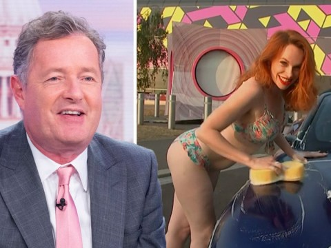 Piers Morgan gets ultimate revenge on wife Celia Walden with bikini-clad car-washer