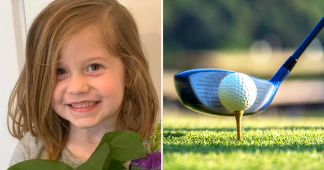 Girl, 6, killed by dad playing golf