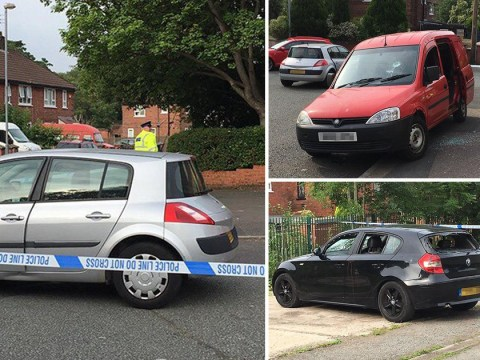 Gang storms estate 'armed with machetes and lashing out at people'