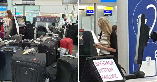 Heathrow chaos as passengers wait for up to two hours after British Airways baggage system breakdown