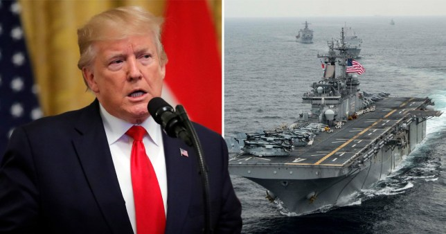 Donald Trump and a warship
