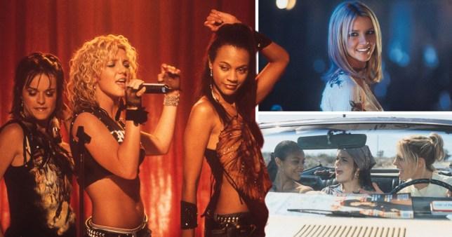 Zoe Saldana and Britney Spears in Crossroads