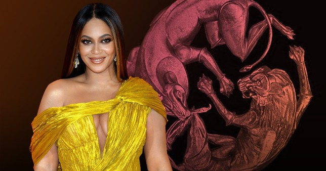 A comp of Beyonce and her album Lion King: The Gift
