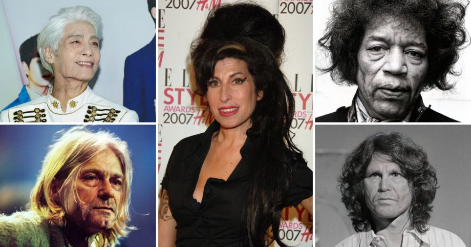Amy Winehouse to Kurt Cobain: What the 27 Club could look like at 72