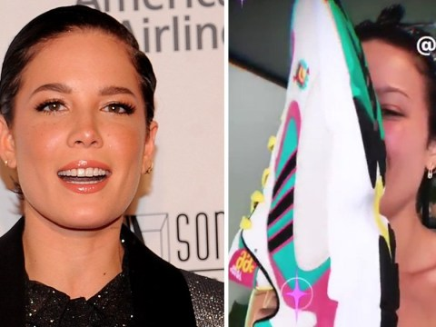 Halsey's been sent Lil Nas X's 'big ass' trainers by mistake and they're twice the size of her head