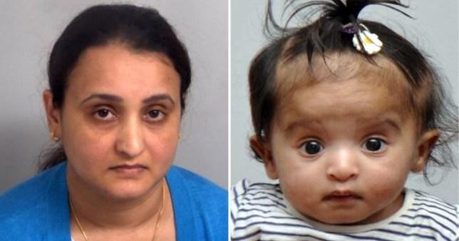 Shalini Padmanabha and her baby Shagun