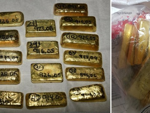 Gold worth £4,000,000 from suspected drug cartel seized at Heathrow
